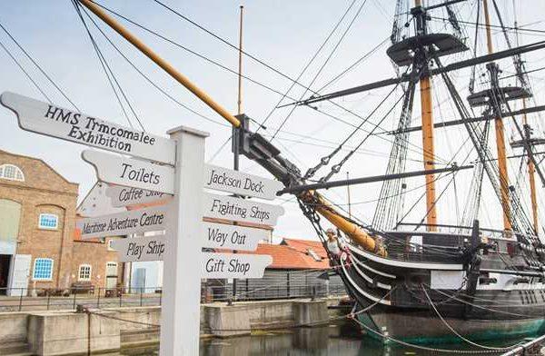 Museum kemaritiman Nasional Royal Navy di Hartlepool Inggris